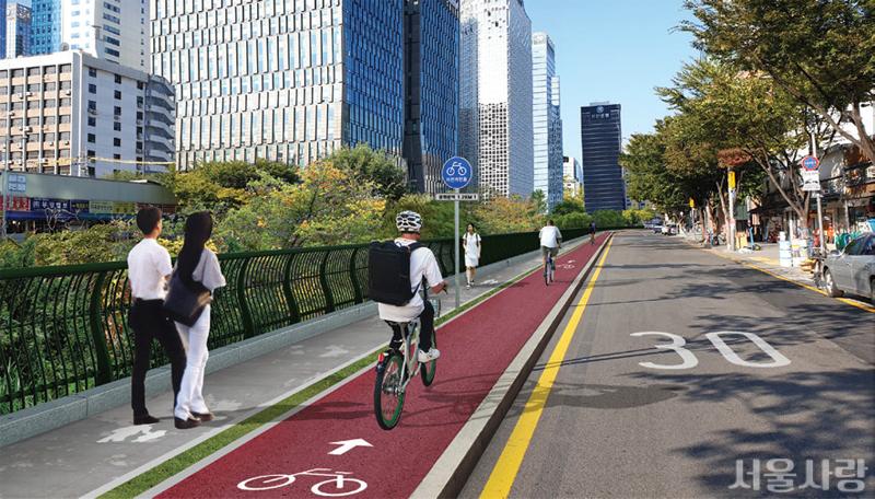 청계천로 자전거도로, 내년 4월 정식 개통
