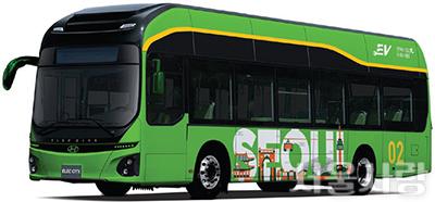남산공원 친환경 전기 저상버스 본격 운행 개시