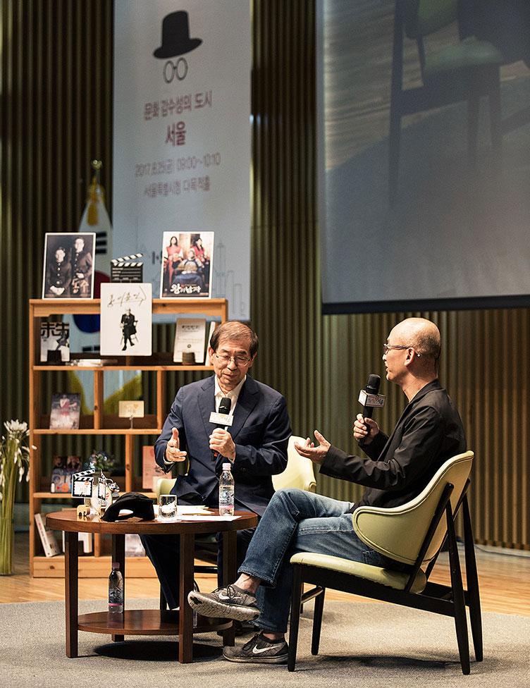 박원순 서울시장과 이준익 영화감독