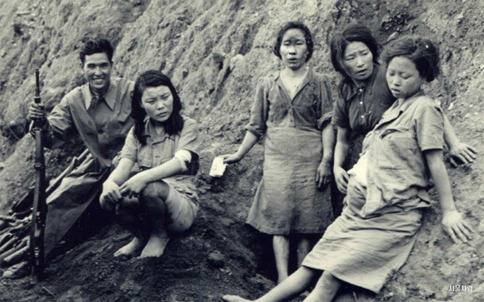 1 연합군이 찍은 위안부 사진과 박영심 할머니.