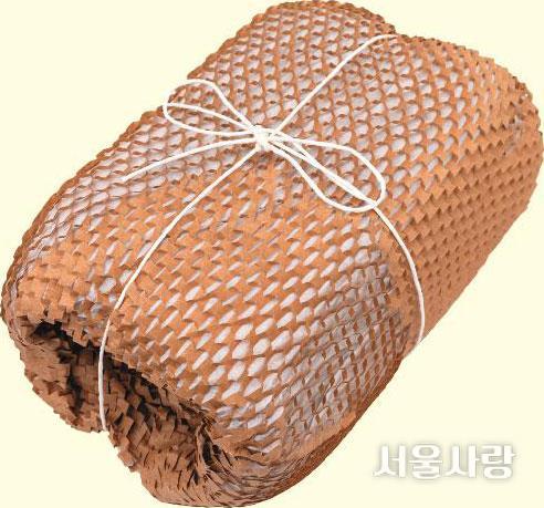 비닐 에어캡 대신 종이 에어캡