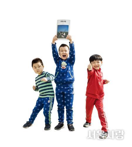 김동현(10세), 전수현(9세), 김동훈(7세)