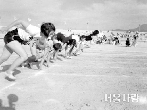 1955 첫 번째 성화를 밝힌 전국체육대회