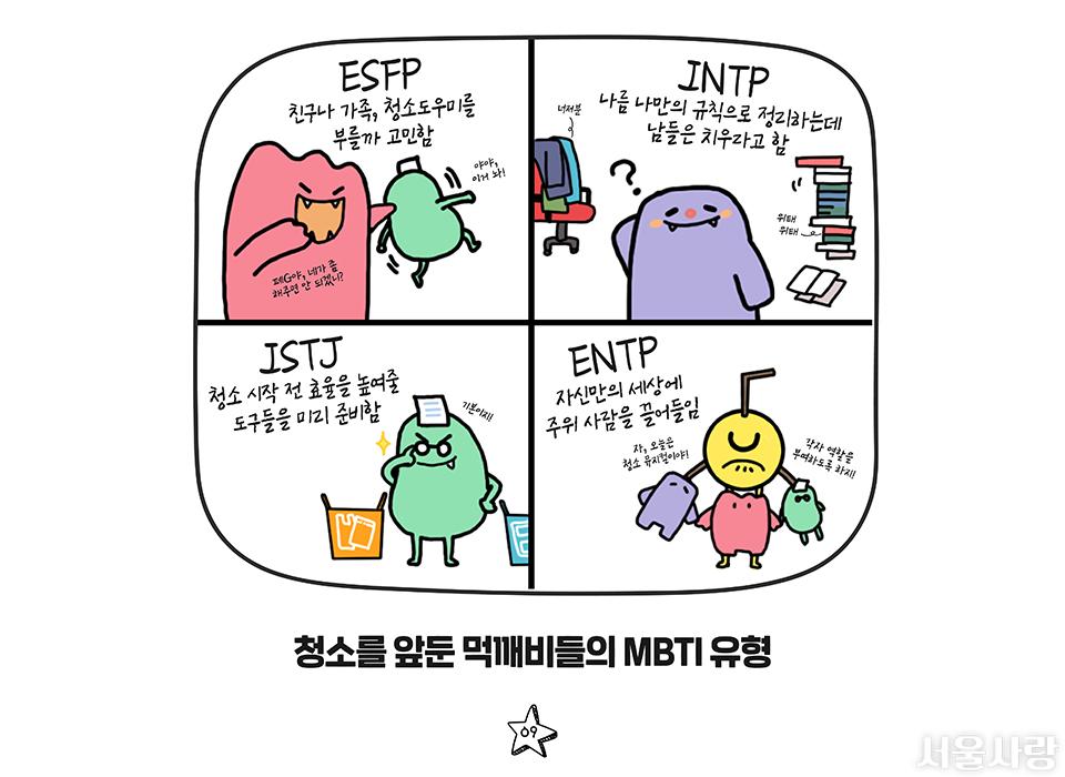 청솔ㄹ 앞둔 먹깨비들의 MBTI 유형