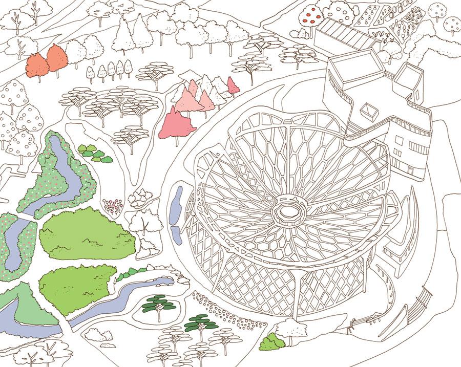 서울을 색칠하자 서울식물원 부분채색편