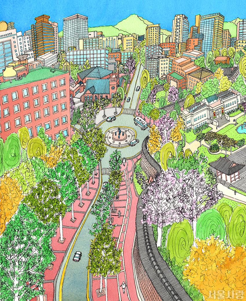 서울을 색칠하자 전체채색본