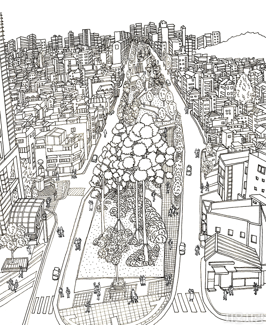 서울을 색칠하자 무채색본