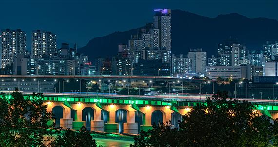 [서울 풍경] 한강, 빛의 순간