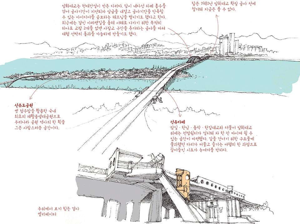 [서울의 오래된 것들 ㉑]서울의 애환과 꿈을 안고 흐리는 한강 위에 놓인 역사의 흔적들